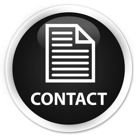 contact page: Contact (page icon) black glossy round button