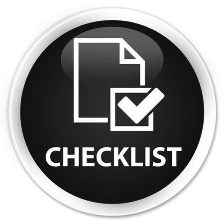confirmed: Checklist black glossy round button