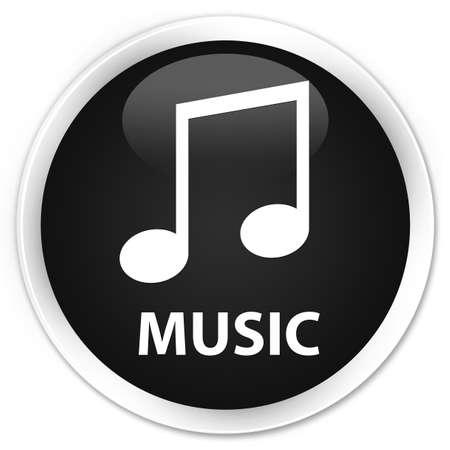tune: Music (tune icon) black glossy round button Stock Photo