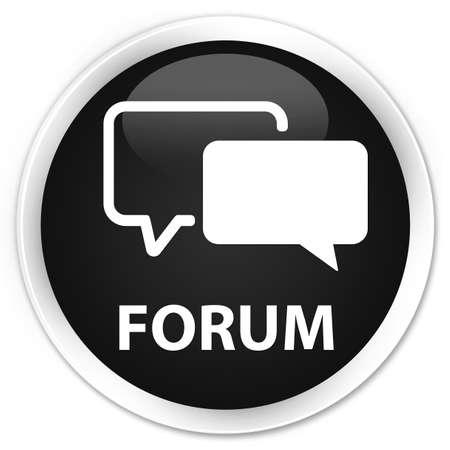 round button: Forum black glossy round button
