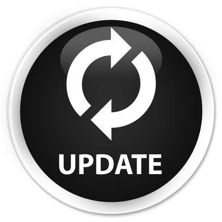 update: Update black glossy round button