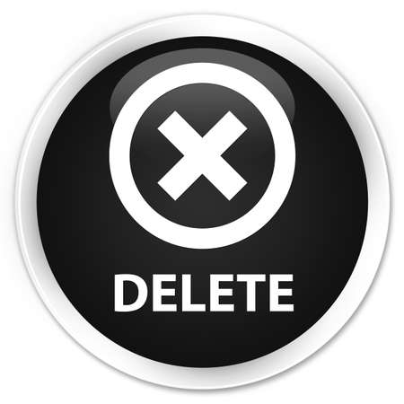 disagree: Delete black glossy round button