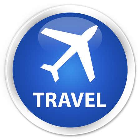 airway: Travel (plane icon) blue glossy round button