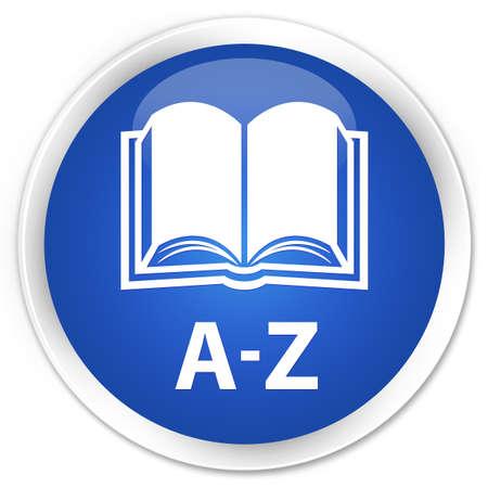 az: A-Z (book icon) blue glossy round button