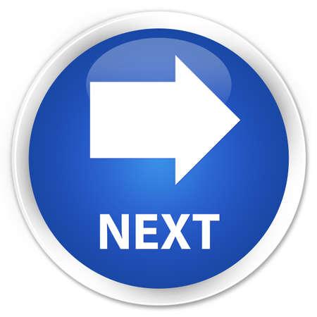 Next blue glossy round button
