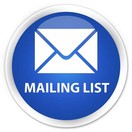 flysheet: Mailing list blue glossy round button