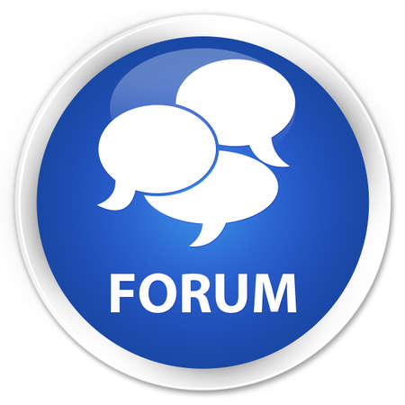 menace: Forum (comments icon) blue glossy round button