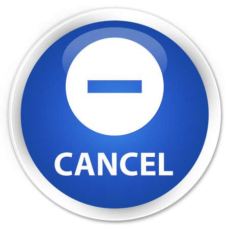 abort: Cancel blue glossy round button Stock Photo