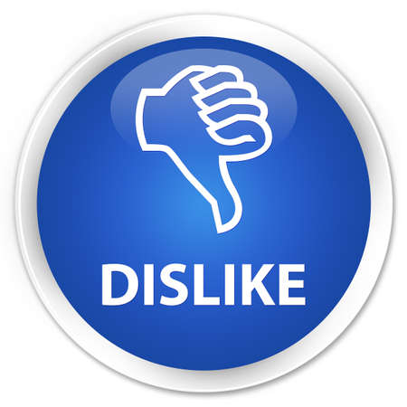 disapprove: Dislike blue glossy round button Stock Photo