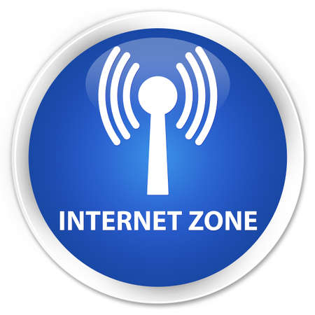 wlan: Internet zone (wlan network) blue glossy round button