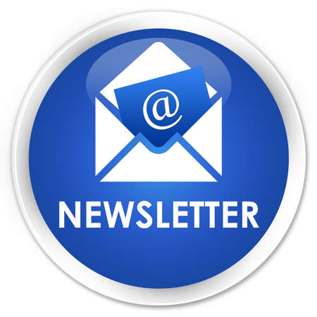 feeds: Newsletter blue glossy round button Stock Photo