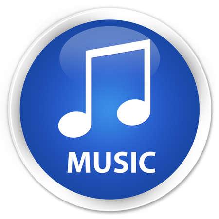 tune: Music (tune icon) blue glossy round button