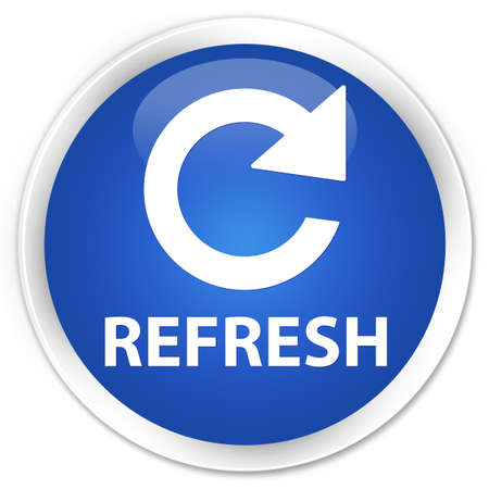 rotate: Refresh (rotate arrow icon) blue glossy round button