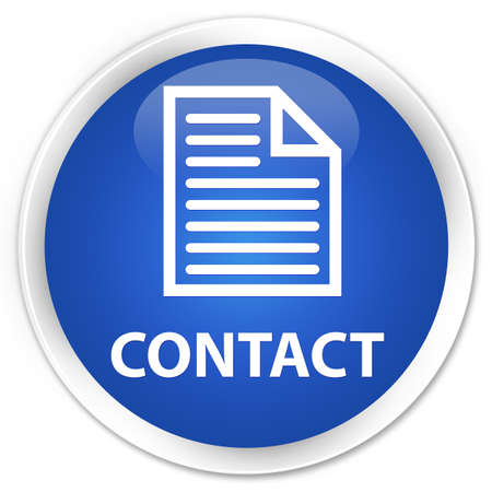 contact page: Contact (page icon) blue glossy round button Stock Photo