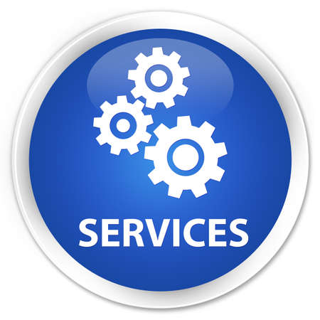preference: Services (gears icon) blue glossy round button