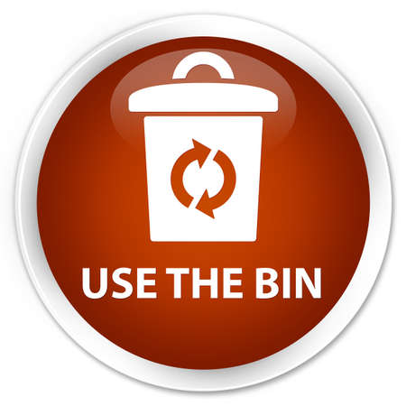 use: Use the bin brown glossy round button
