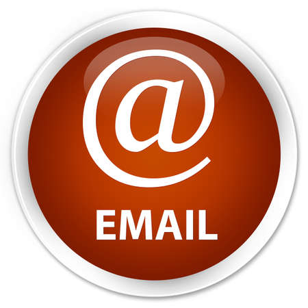 email address: Email (address icon) brown glossy round button Stock Photo