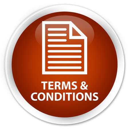 conditions: Terms and conditions (page icon) brown glossy round button
