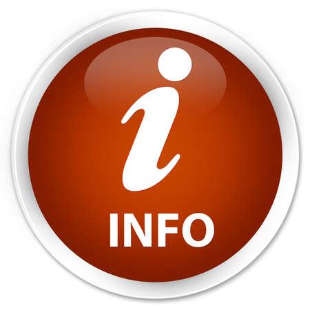 inquiry: Info brown glossy round button Stock Photo