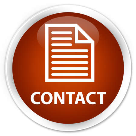 contact page: Contact (page icon) brown glossy round button