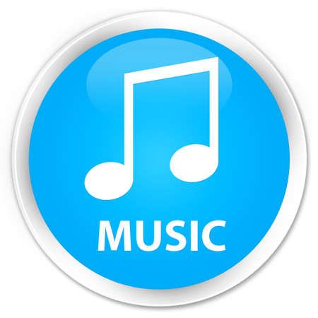 tune: Music (tune icon) cyan blue glossy round button