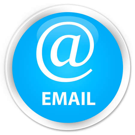 email address: Email (address icon) cyan blue glossy round button Stock Photo
