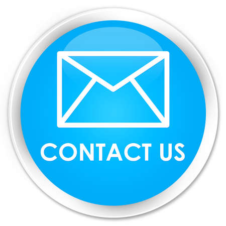 flysheet: Contact us (email icon) cyan blue glossy round button