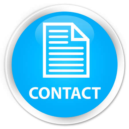 directory book: Contact (page icon) cyan blue glossy round button