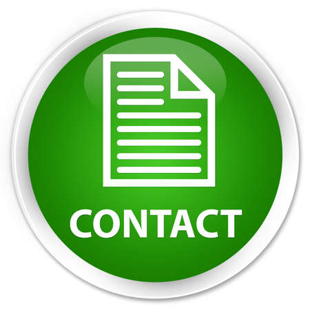 contact page: Contact (page icon) green glossy round button Stock Photo