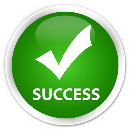 validate: Success (validate icon) green glossy round button Stock Photo