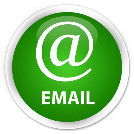 email address: Email (address icon) green glossy round button