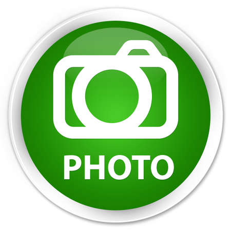 photo slide: Photo (camera icon) green glossy round button