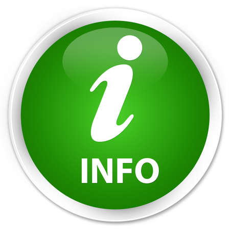 informing: Info green glossy round button