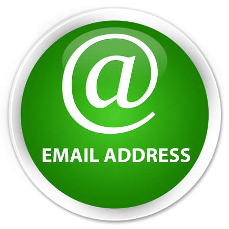 flysheet: Email address green glossy round button Stock Photo