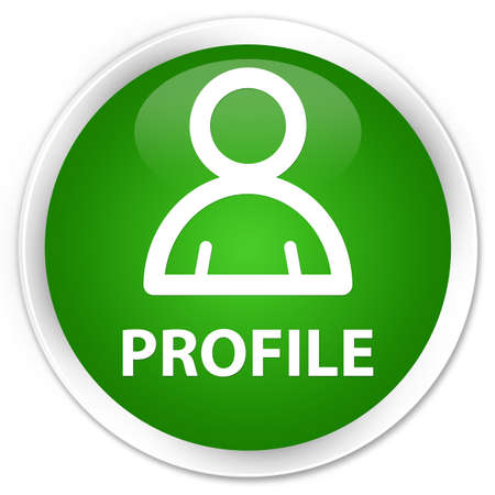 member: Profile (member icon) green glossy round button