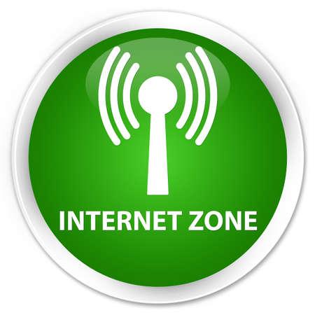 wlan: Internet zone (wlan network) green glossy round button
