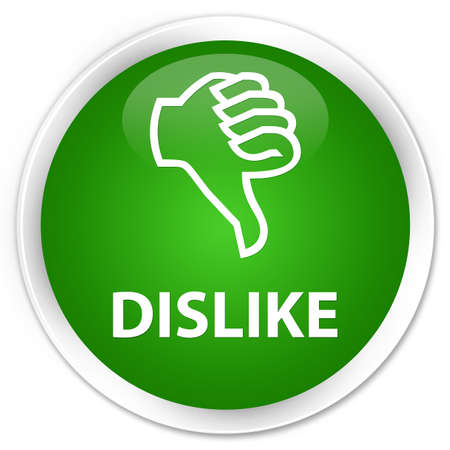 disapprove: Dislike green glossy round button Stock Photo