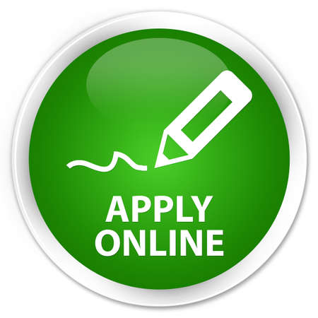 apply: Apply online (edit pen icon) green glossy round button