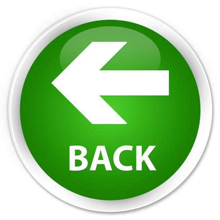 round: Back green glossy round button