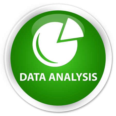 stat: Data analysis (graph icon) green glossy round button