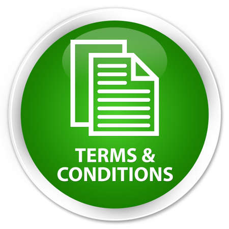 conditions: Terms and conditions (pages icon) green glossy round button
