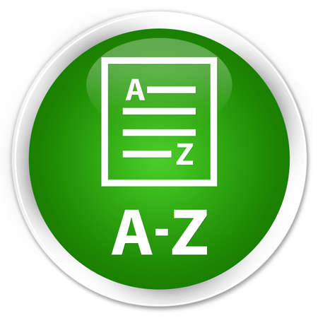 az: A-Z (list page icon) green glossy round button