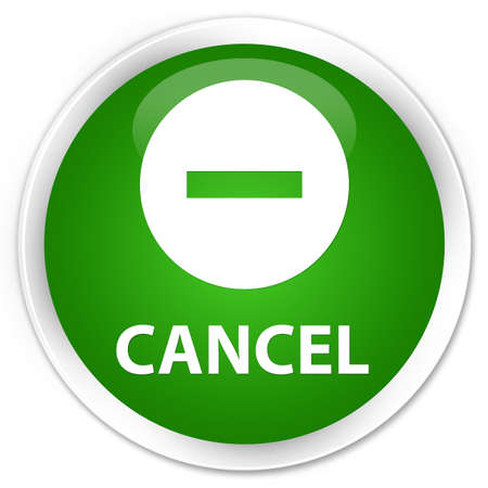 cancel: Cancel green glossy round button