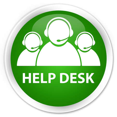 help desk: Help desk (customer care team icon) green glossy round button
