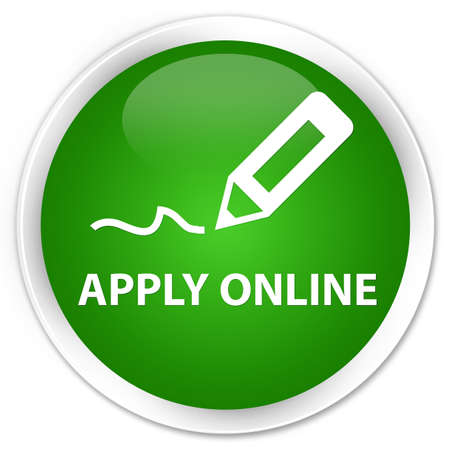 registry: Apply online (edit pen icon) green glossy round button