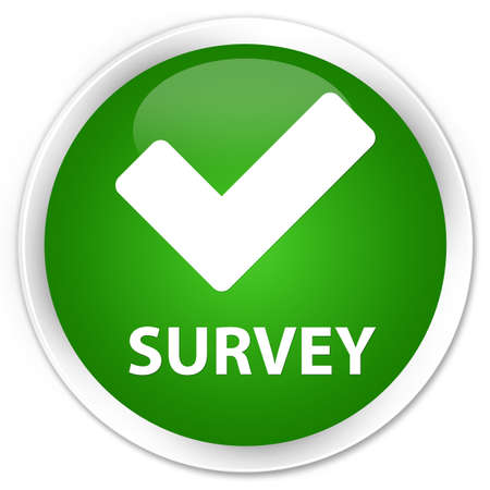 valid: Survey (validate icon) green glossy round button