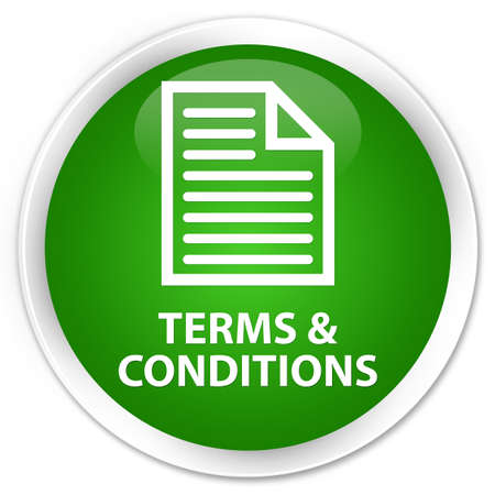 terms: Terms and conditions (page icon) green glossy round button