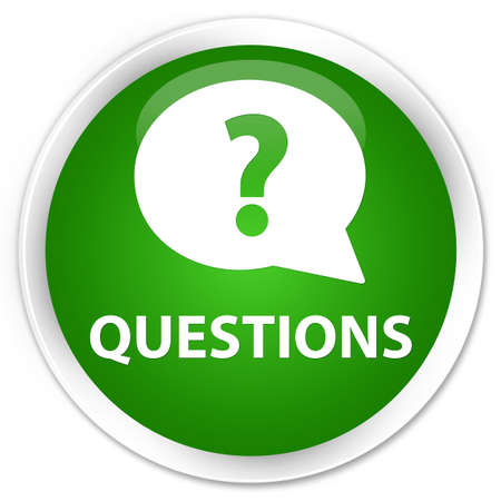 quest: Questions (bubble icon) green glossy round button