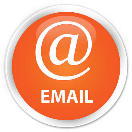 email address: Email (address icon) orange glossy round button