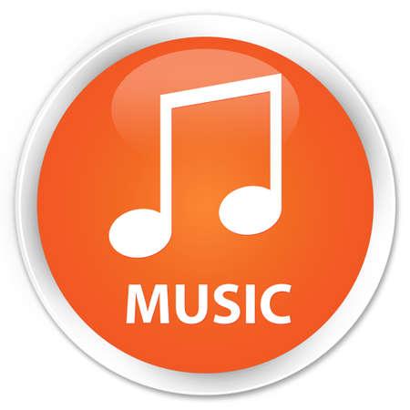 tune: Music (tune icon) orange glossy round button